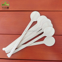 Round head wooden coffee stick disposable wooden stirring stick