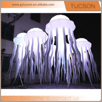 party decoration inflatable led jellyfish/ hanging balloon for event