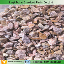 Stone Marble Chip for Tile or terrazzo floor,Pink granit crushed stone/ Landscaping granite chips