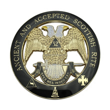 Masonic two-heads eagle car badge sword car emblem with eopxy