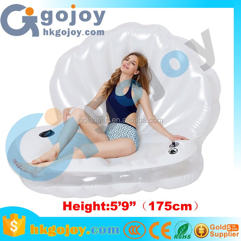 water sports equipment inflatable seashell swimming pool float line water slide clam shell inflatable pool float