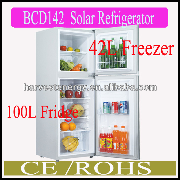 DC 12V/24V BCD142 Solar Power Fridge,Solar Freezer ,Solar refrigerator