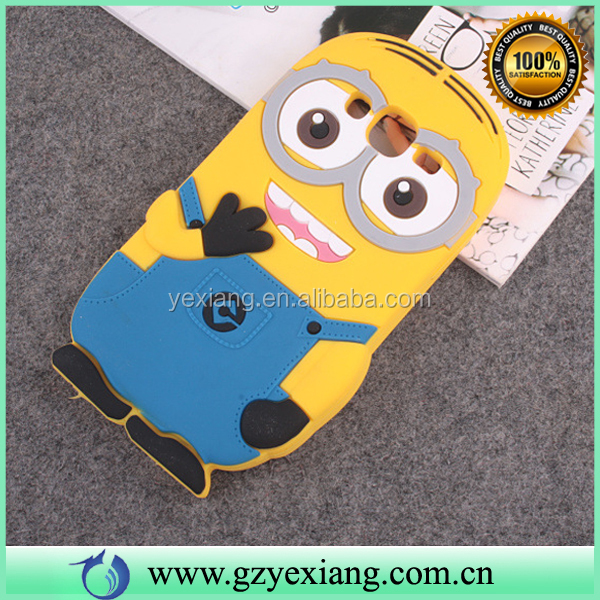 HOT 3D Cartoon Animal Mobile Phone Back Case For Sumsung J5 J7 Minion