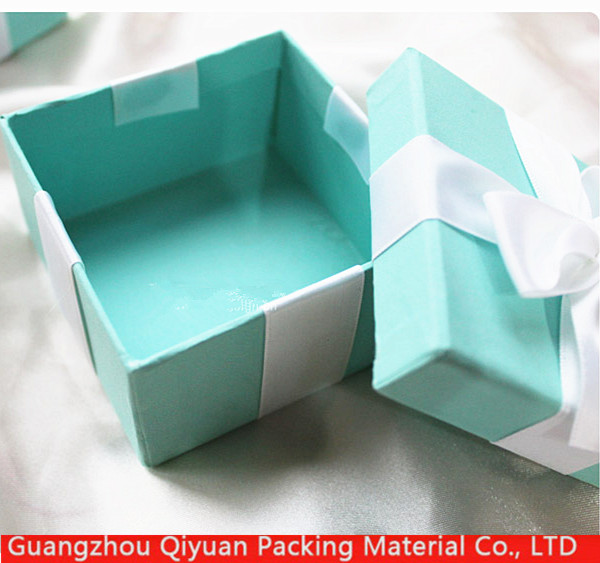 Custom logo luxury Paper Printing Cute cardboard Gift Jewelry Box Packaging with Silk ribbon
