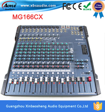 Y A M A H A Professional 16 channel digital powered audio mixer player MG166CX auto DJ mixer