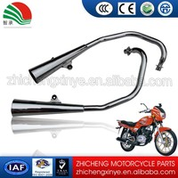 Factory Low Price Motorcycle Chrome Silencer in Exhaust System in Double Pipe