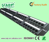 network cabling 180 degree UTP CAT6 48 Port patch panel