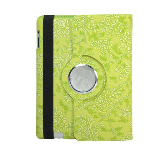 New Degin 360 Degree Rotate Leather PU Case For iPad mini4 Grape Flower Printing PU Smart Case For iPad mini 4