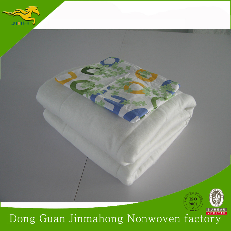 100% Nonwoven polyester or pp / cotton wadding / padding for coat& quilt manufacturer