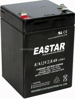Long cycle life rechargeable lead acid battery 12v 2.8ah