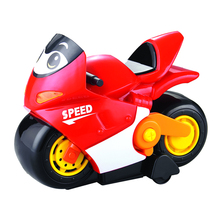Eco-friendly plastic red battery operated motorcycle toy model