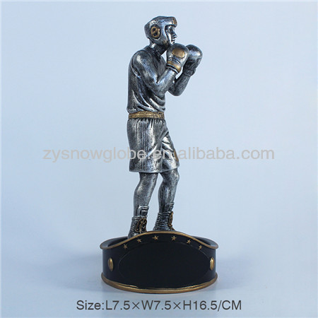 Resin boxer trophy