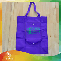 Expandable Customized Wholesale Polyester Shopping Folding Tote Bag