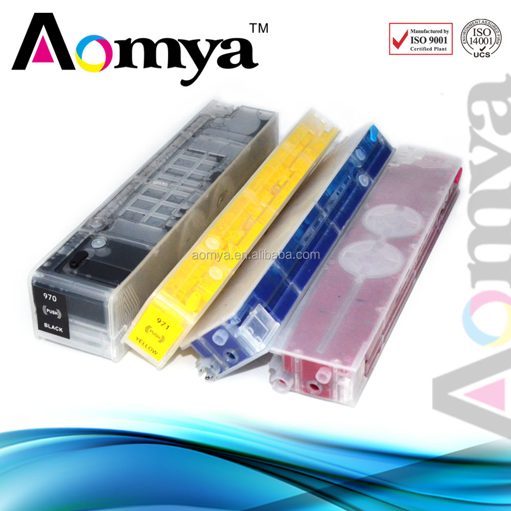 High quality refillable 970 971 ink cartridge for HP empty/with ink