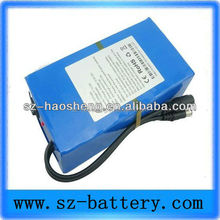 Rechargeable 18650 Lithium ion electric bike battery 12v 24ah