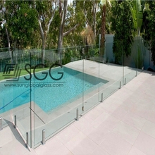 Tempered laminated balustrade railing glass indoor Tinted Tempered Glass Fencing