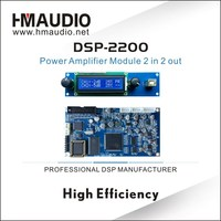 DSP2200 amplifier module with LCD display screen