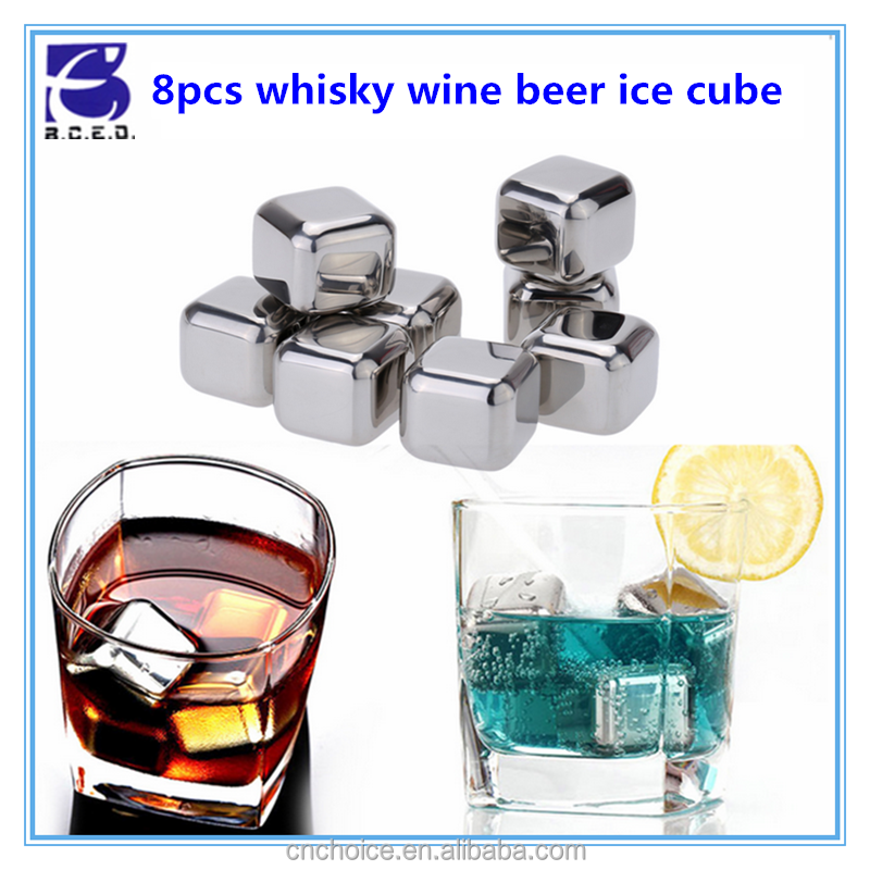 Wine accessory whiskey ice stones drink cooler stainless steel ice cube