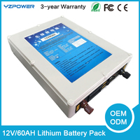 12V 60AH lithium battery Li-ion Super Rechargeable Battery Pack