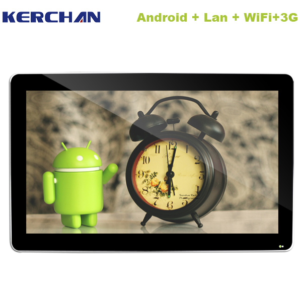 Android system banner 65 inch Smart Update 65 inch UHD LCD retail wall mount lcd media player