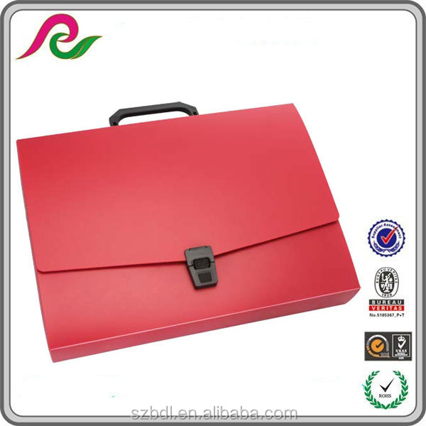 China stationey Letter size plastic Portable File Box
