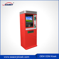 outdoor self service cash dispenser kiosk machine with MRZ card reader