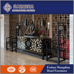 public area furniture / hotel lobby furniture/wholesale console table gold silver cover JD-XG-015