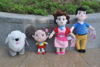 Wholesale well-being cartoon family mom and dad plush dolls baby toy OEM
