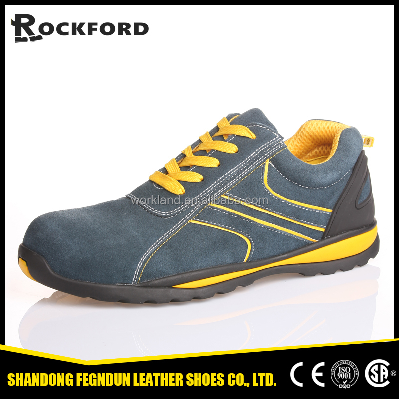 Buffalo leather athletic sports safety shoes FD3208