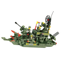 WANGE Hot Novelty Items Kids Military Toy Boats building blocks