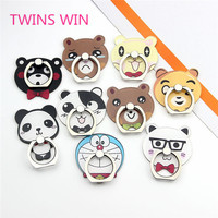 Israel best selling 2019 new innovative mobile phone accessories wholesale acrylic animal head design cell phone ring holder 024