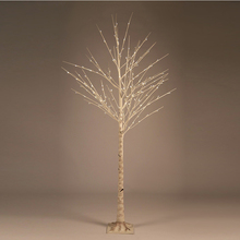Big White Artificial Christmas Tree Birch LED Lights