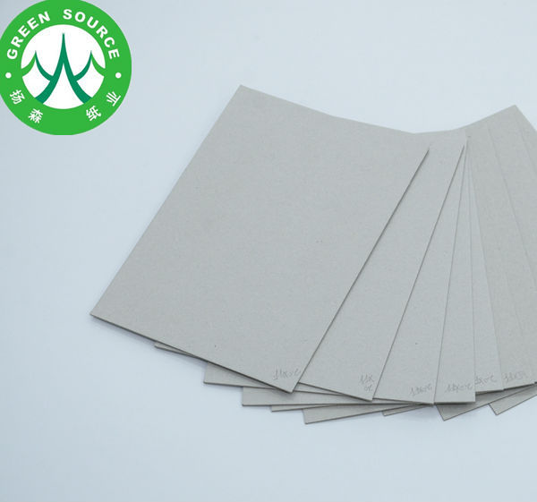 Cheap price uncoated 1.0mm &1.5mm grey cardboard paper manufacturer