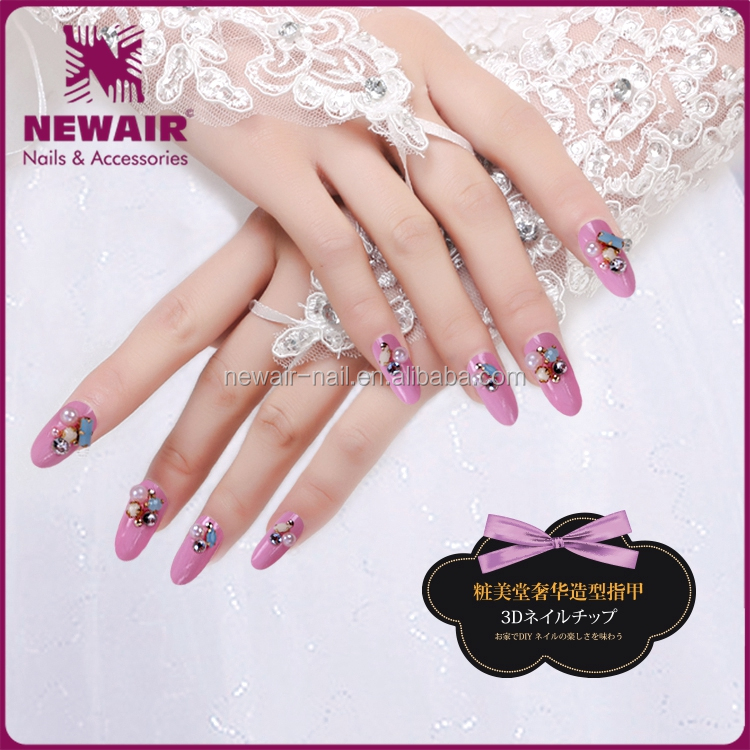 Easy Operation 3D Luxury Nail Art Decorations Full Cover False Nail