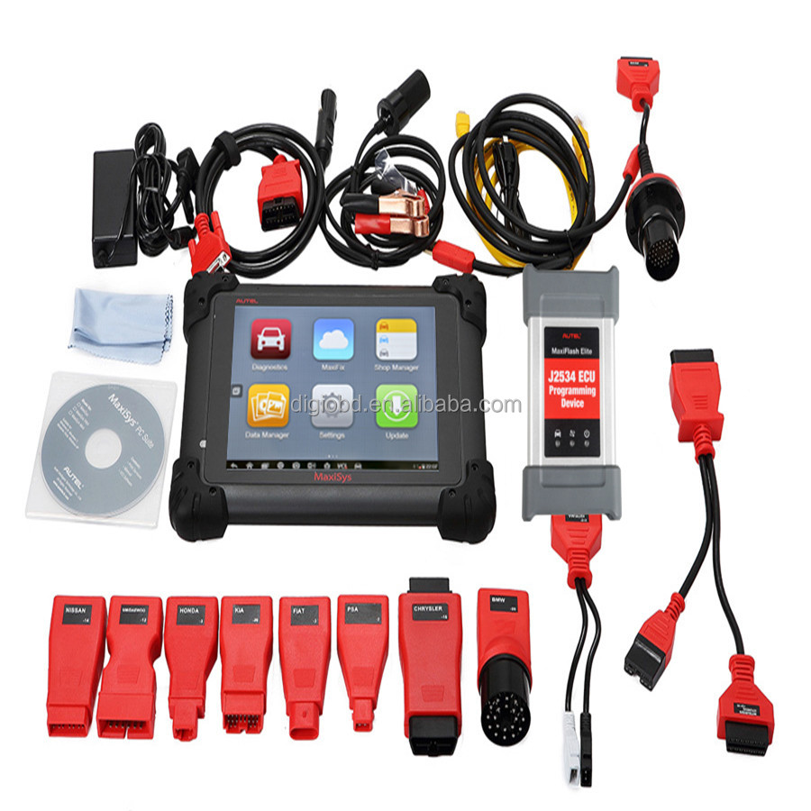 2017 Newest Autel Maxisys 908 Elite Diagnostic Tools MaxiSys CV Full System ECU Coding One Years Free Update