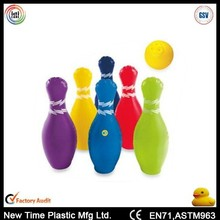 Inflatable bowling ball and pins sets