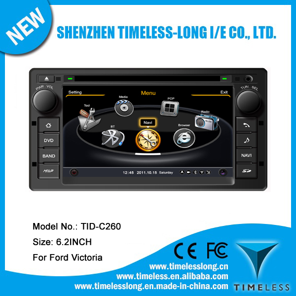 Car DVD for Ford Crown Victoria with built-in GPS A8 chipset RDS BT 3G/Wifi DSP Radio 20 dics momery(TID-C260)