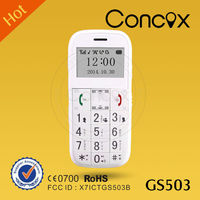 Concox GS503 old men mobile phone with CE,FCC,RoHS