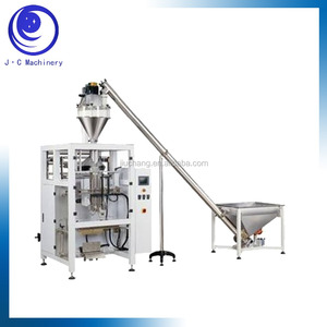 Good quality milk tea powder packing machine with screw lifting and finish products conveying