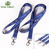 High quality blue color printing heat transfer elastic cord lanyard