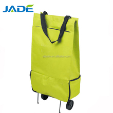 Trolley style and polyester material shopping trolley bags travel bags 2 wheels YK-Jade