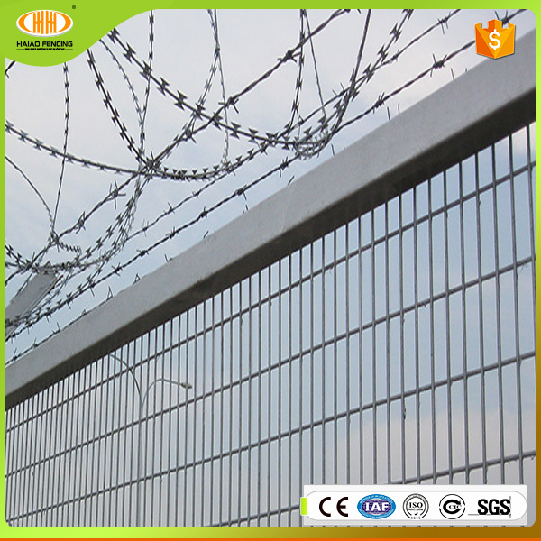 Free samples cheap and hot sales used anti-climb pool steel iron fence design