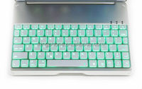 made in china, ultrathin aluminum alloy luminous Bluetooth Keyboard Case for ipad 5
