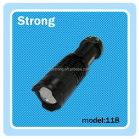 Wholesale Adjustable Focus Zoom Flash Light Lamp Mini LED Torch 3W XPE LED Flashlight