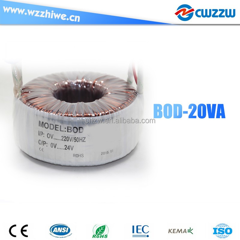 BOD-20W dry power toroidal transformer 220v to 48v