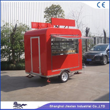 JX-FS220R dump truck for sale/Mobile Catering Food Van/food trailer in china fiberglass box trailer for sale