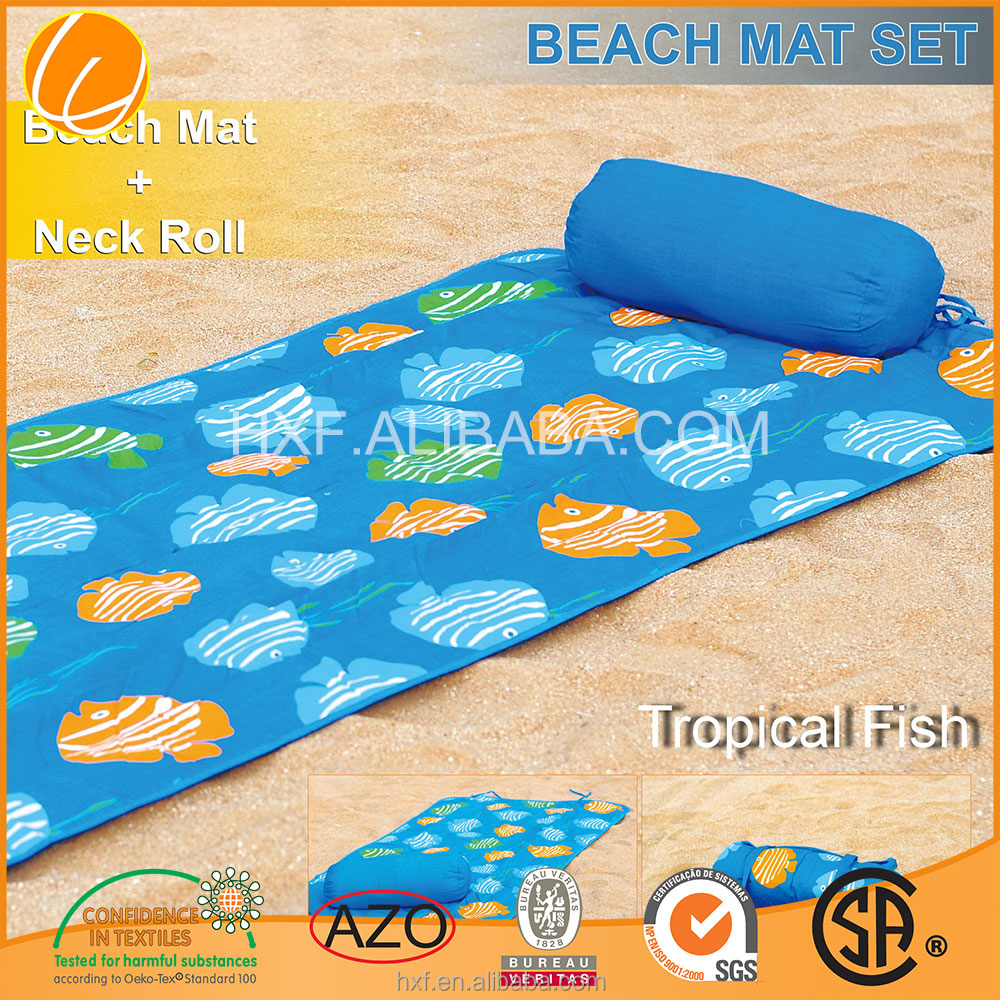 Custom Promotion High Quality Hotsale Beach Towel with Pillow Beach Towel with Inflatable Pillow Wholesale China OEM Manufacture