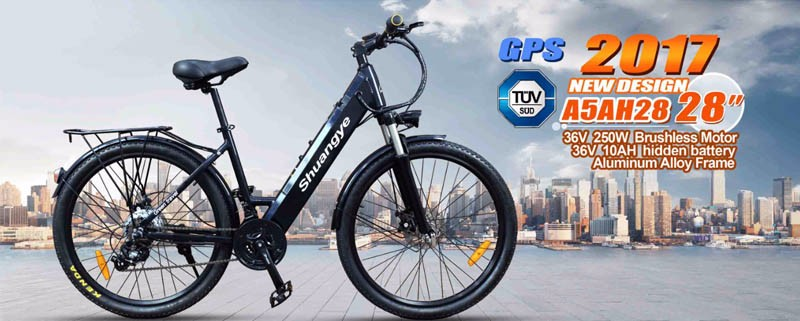 2017 cheap fashion 26'' 28'' 36v electric mountain bicycle