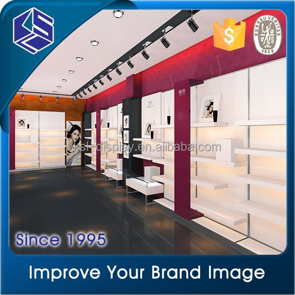 Baking paint wall mounted top quality wooden retail shoe rack display rack /shoes showcase