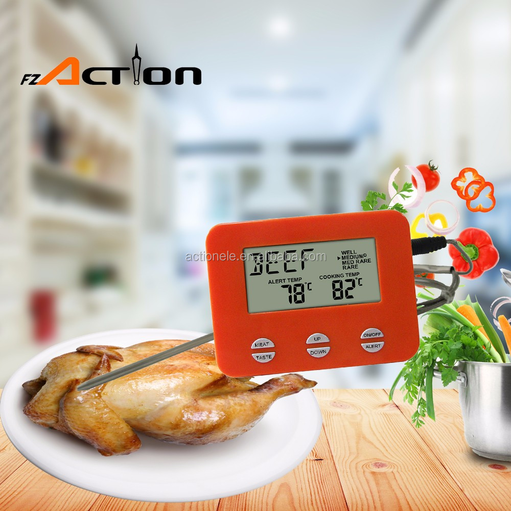 Mini LCD Digital Thermometer Food/Meat Wireless BBQ Thermometer with Probe Wholesale